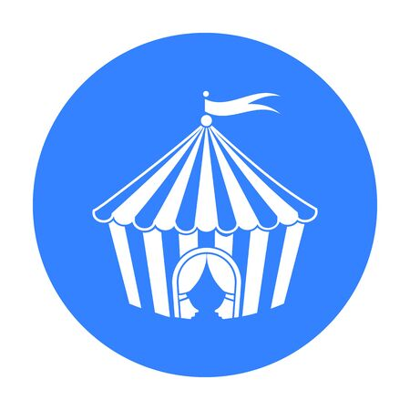 Circus tent icon in black style isolated on white background. Circus symbol stock vector illustration.