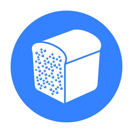 french toast: Bread icon of vector illustration for web and mobile Illustration