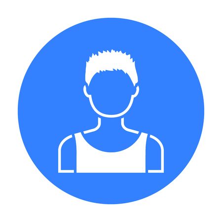 young black man: Boy icon black. Single avatar,peaople icon from the big avatar black. Illustration