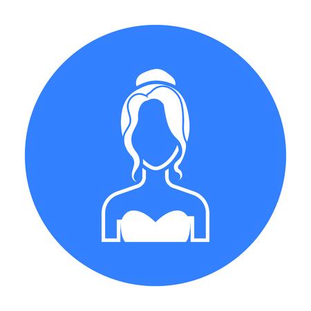 Blonde icon black. Single avatar,peaople icon from the big avatar black.