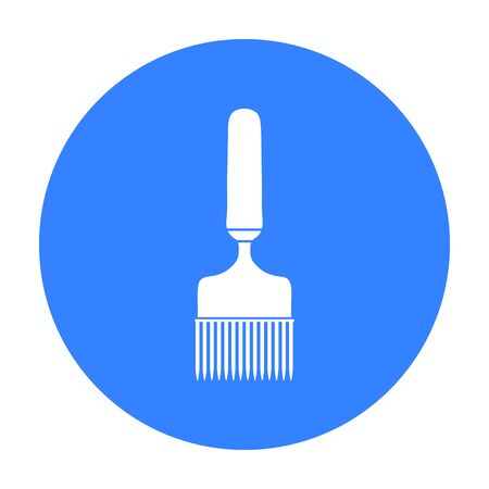 Uncapping fork icon in black style isolated on white background. Apiary symbol stock vector illustration Illustration