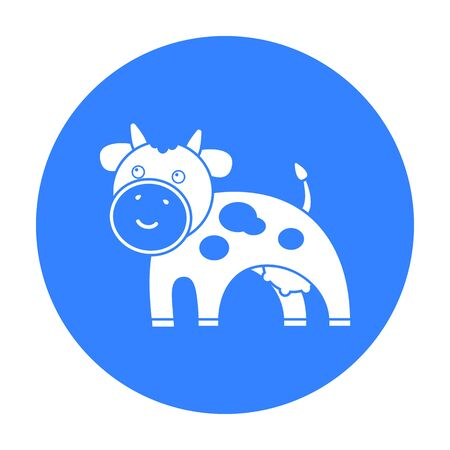 udders: Cow black icon. Illustration for web and mobile design.