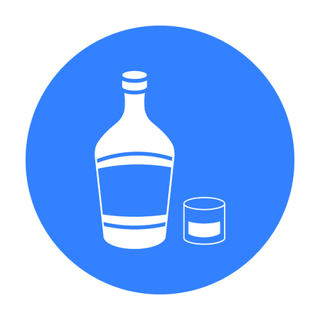 liqueur: Liqueur icon in black style isolated on white background. Alcohol symbol stock vector illustration. Illustration