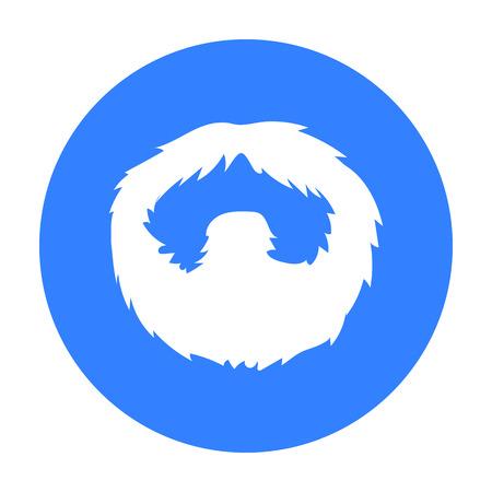Man s beard icon in black style isolated on white background. Beard symbol stock vector illustration. Illustration
