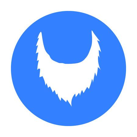 Man s beard icon in black style isolated on white background. Beard symbol stock vector illustration. Ilustração
