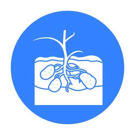 pareja comiendo: Patata icono negro. Única planta icono de la granja, jardín, agricultura negro.