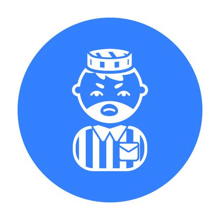 imprisoned person: Prisoner black icon. Illustration for web and mobile design.