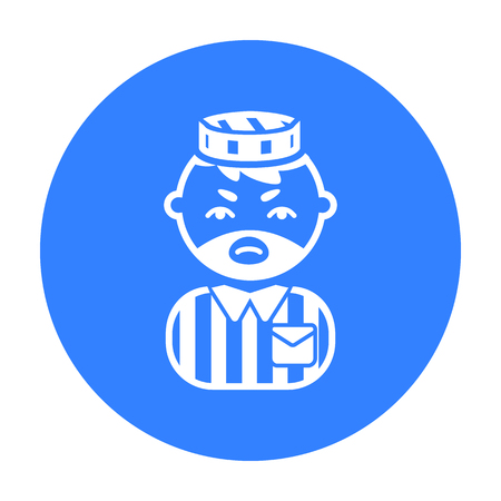 Prisoner black icon. Illustration for web and mobile design.