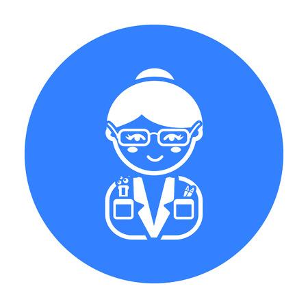 Scientist black icon. Illustration for web and mobile design. Illustration