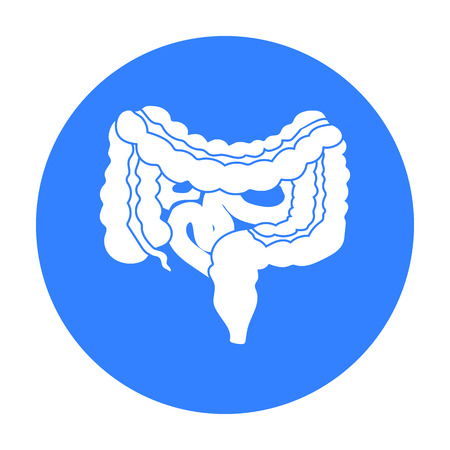 alimentary: Gastrointestinal tract icon in black style isolated on white background. Organs symbol stock vector illustration.