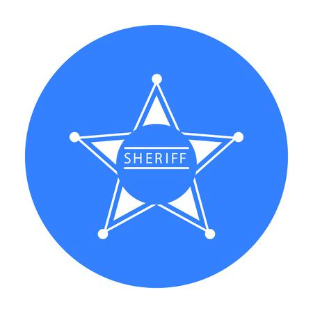 Sheriff icon black. Singe western icon from the wild west black. Illustration