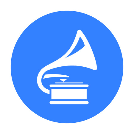 restored: Gramophone icon of vector illustration for web and mobile