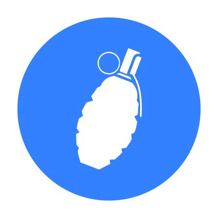 lanzamiento de bala: Grenade icon black. Single weapon icon from the big ammunition, arms set.