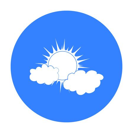 Cloudy Weather Icon In Black Style Isolated On White Background