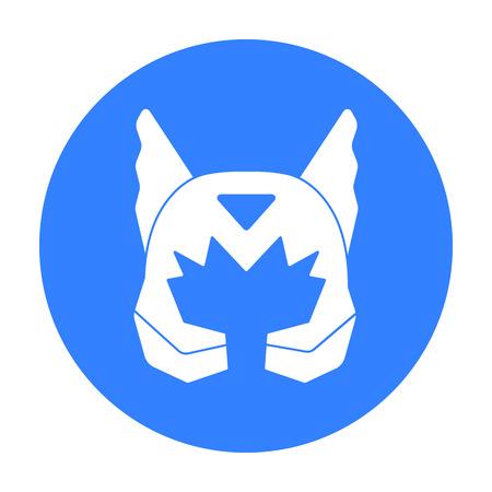 heroic: Superhero s helmet icon in black style isolated on white background. Superhero s mask symbol stock vector illustration.