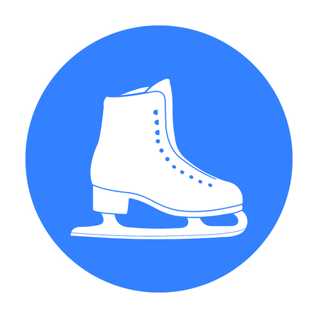 figureskating: Skates icon black. Single sport icon from the big fitness, healthy, workout black.