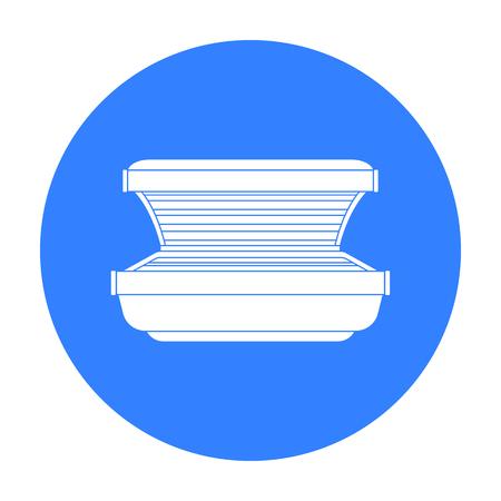 Curtido icono de la cama en el estilo de negro sobre fondo blanco. cuidado de la piel ilustración vectorial símbolo de la acción.