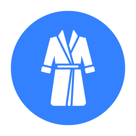 blacks: Bathrobe icon of vector illustration for web and mobile Illustration