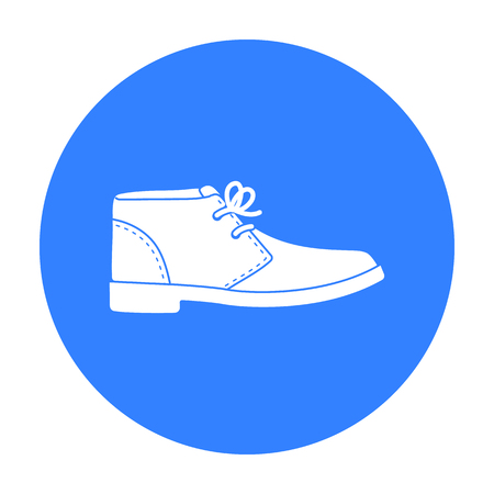 brogues: Oxfords icon in black style isolated on white background. Shoes symbol stock vector illustration.