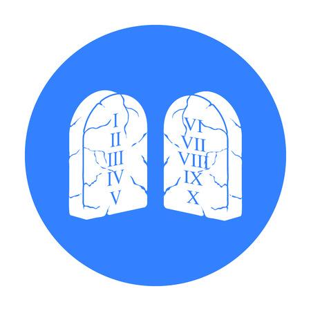 Ten Commandments icon in black style isolated on white background. Religion symbol stock vector illustration. Illustration