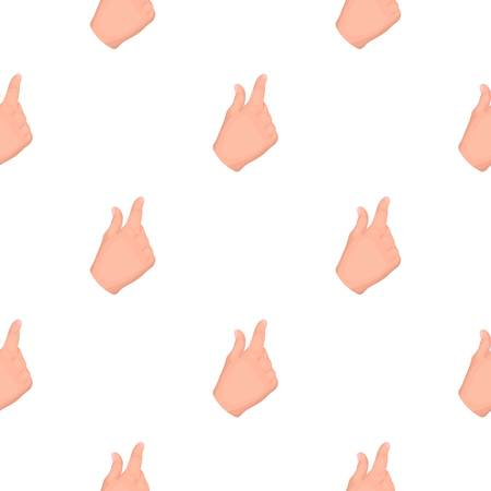 Zoom in gesture icon in cartoon style isolated on white background Hand  gestures symbol stock