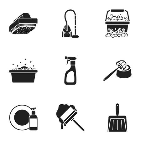 Cleaning set icons in black style. Big collection of cleaning vector symbol stock illustration