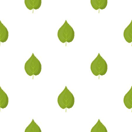 Linden leaf vector icon in cartoon style for web