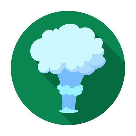 nuclear explosion: Nuclear explosion icon in flat style isolated on white background. Explosions symbol stock vector illustration.