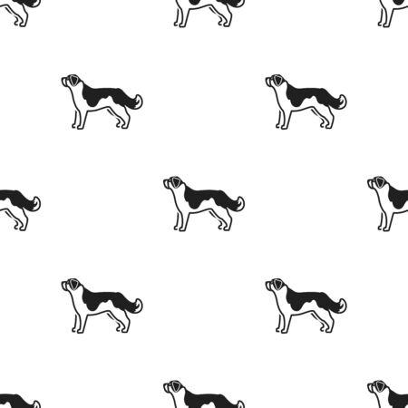 st  bernard: St. Bernard dog vector icon in black style for web