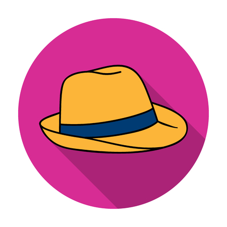 Panama hat icon in flat style isolated on white background. Surfing symbol stock vector illustration.