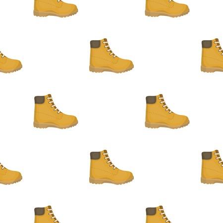 Icono de botas de senderismo en estilo de dibujos animados aislado sobre fondo blanco. Zapatos patrón stock ilustración vectorial.