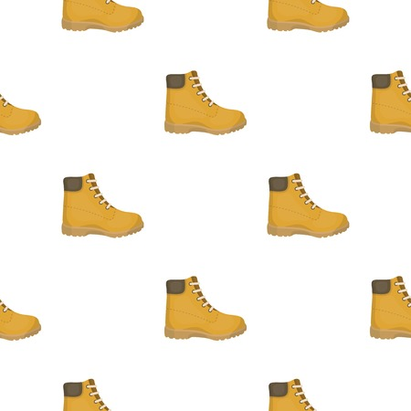 Hiking boots icon in cartoon style isolated on white background. Shoes pattern stock vector illustration.