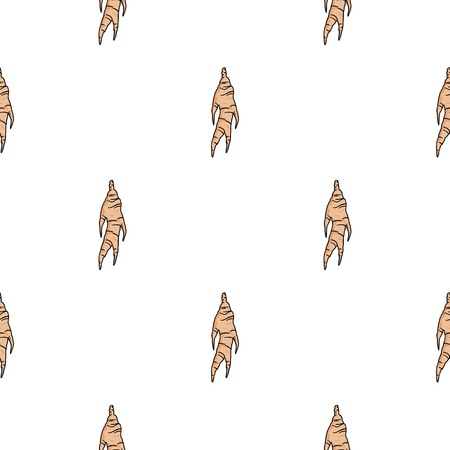 Ginseng icon in cartoon style isolated on white background. South Korea pattern stock vector illustration.