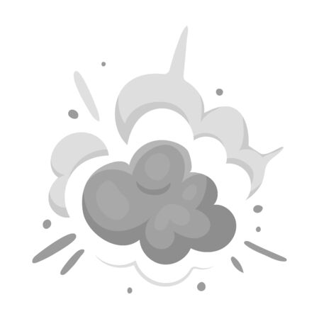 Explosion icon in monochrome style isolated on white background. Explosions symbol stock vector illustration.