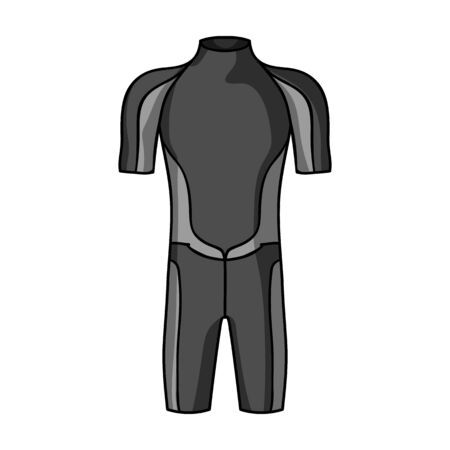 wetsuit: Wetsuit icon in monochrome style isolated on white background. Surfing symbol stock vector illustration.