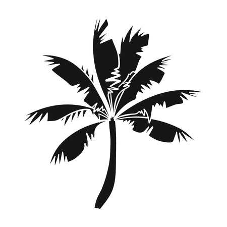 Palm tree icon in black style isolated on white background. Surfing symbol stock vector illustration. Illustration