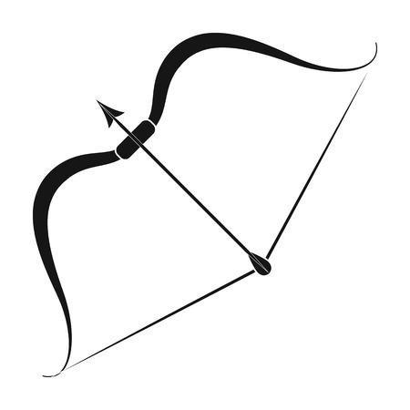 Viking bow icon in black style isolated on white background. Vikings symbol stock vector illustration.