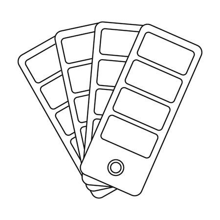 Farbe Farbfelder Symbol in Outline-Stil isoliert auf weißem Hintergrund. Typografie Symbol Stock Vektor-Illustration.
