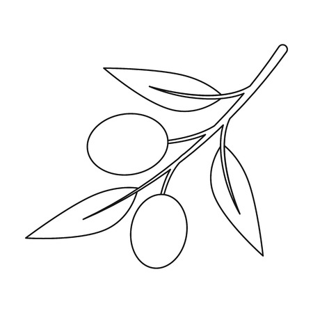 Olive icon outline. Singe vegetables icon from the eco food outline. Illustration