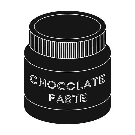 Chocolate paste icon in black style isolated on white background. Chocolate desserts symbol stock vector illustration. Ilustração