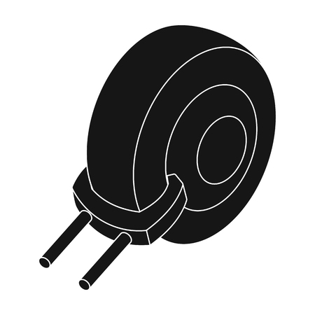 illegally: Wheel clamp icon in black style isolated on white background. Parking zone symbol stock vector illustration.