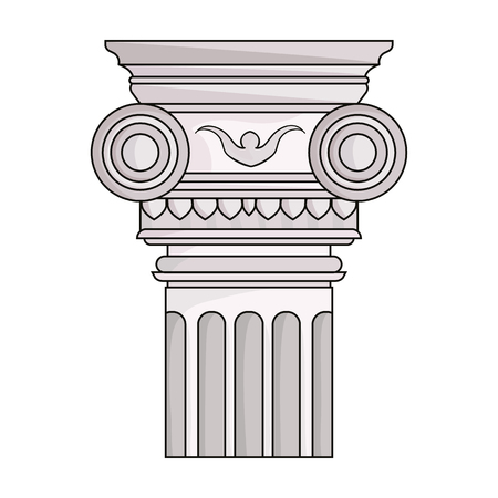 arquitecto caricatura: Column icon in cartoon style isolated on white background. Architect symbol stock vector illustration.