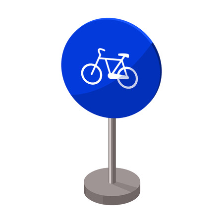 Mandatory road signs icon in cartoon style isolated on white background. Road signs symbol stock vector illustration.