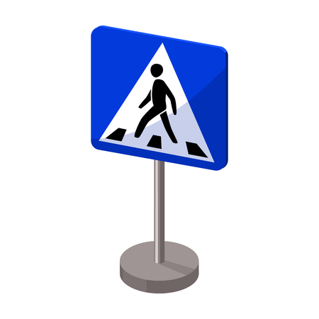 Information road signs icon in cartoon style isolated on white background. Road signs symbol stock vector illustration.