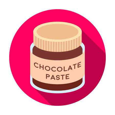 Chocolate paste icon in flat style isolated on white background. Chocolate desserts symbol stock vector illustration.