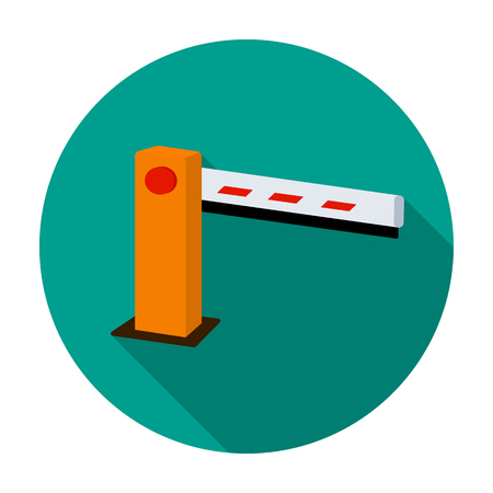 Parking barrier icon in flat style isolated on white background. Parking zone symbol stock vector illustration.