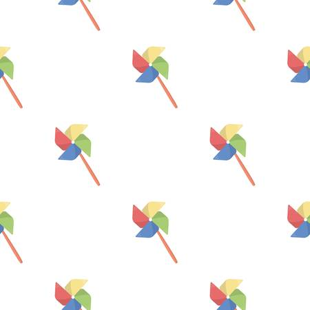 Toy windmill cartoon icon. Illustration for web and mobile design.