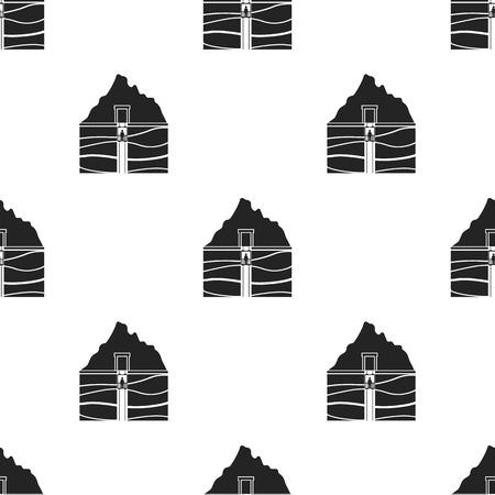 Mine Welle Symbol in schwarzen Stil isoliert auf weißem Hintergrund. Mine Muster Stock Vektor-Illustration.