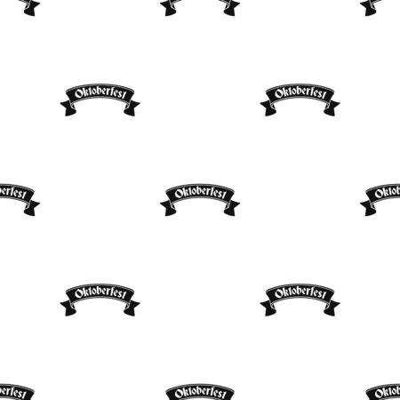 bavarian culture: Oktoberfest banner icon in black style isolated on white background. Oktoberfest pattern stock vector illustration. Illustration