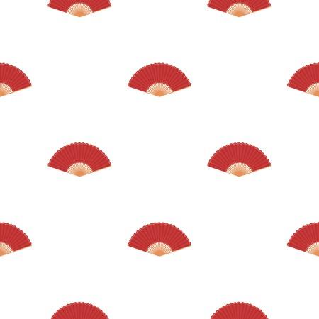 cartoom: Folding fan icon in cartoon style isolated on white background. Theater pattern stock vector illustration Illustration